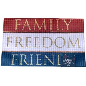 Patriotic 'Family Freedom Friends' USA Outdoor Mat